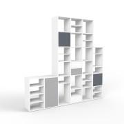 Wohnwand Weiß, MDF, 232 cm x 232 cm x 34 cm