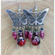 oorbellen vlinder rood 02