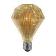 Ampoule décorative led diamant couleur ambre e27 6w