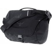 Osprey Flap Jack Courier Umhängetasche in schwarz