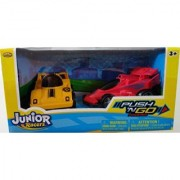 JUNIOR RACERS PUSH N GO 2PK Jet Racer & Race Car