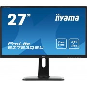"Monitor Gaming TN LED iiyama 27"" B2783QSU-B1, WQHD (2560 x 1440), DVI, HDMI, DisplayPort, 1 ms, Boxe (Negru)"
