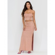 CheapChic Head To Toe Glam Two-piece Set Rosegold
