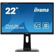 Monitor iiyama B2282HD-B1, 22'', LCD, 5ms, 250cd/m2, FullHD, matný, VGA, DVI, pivot, výšk.nastav.