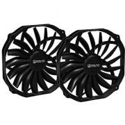 2-Pack Ultra Sleek Vortex 140mm PWM Fan (with 120mm Mounting Pattern)