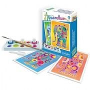 SentoSphere Mini Aquarellum Elephants Arts and Crafts Paint Set