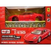 Modèle Réduit À Assembler Ferrari F430 : Collection Assembly Line Echelle 1/24 : Rouge-Maisto