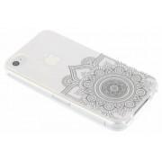 Zwart mandala design TPU hoesje voor de iPhone 4 / 4s
