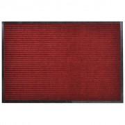 vidaXL Изтривалка за входна врата от PVC, червена, 90 х 150 см