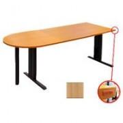 Sigma kancelarijski sto sa T nogama i polukružnim dodatkom u boji bukve
