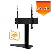 Mount-It! Universal TV Swivel Stand Tabletop TV Mount Bracket Fits 32, 37, 40, 47, 50, 55 Inch TVs, Height Adjustable, VESA 400x400, Black (MI-844)