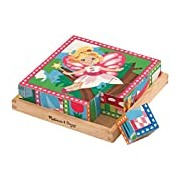 Melissa & Doug Princess and Fairy Wooden Cube Puzzle - 6 Puzzles in 1 (16 pcs)