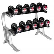Gorilla Sports Rundhantel-Set 150KG inkl. Ständer'