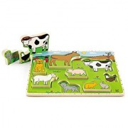Hape - Farm Animals Wooden Stand Up Puzzle