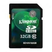 SD-HC CARD KINGSTONE; model: SD10V/32GB; capacitate: 32 GB; clasa: 10; culoare: NEGRU