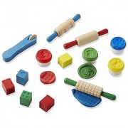 Melissa & Doug Shape Model and Mold Clay Activity Set - 4 Tubs of Modeling Dough and Tools
