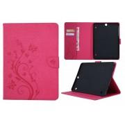 Samsung Galaxy Tab S2 9.7 T810 / T815 - Creatieve Tablet Hoes met Bloemen Design voor bescherming voor- en achterkant - Kleur Roze