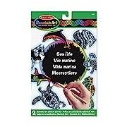 Melissa & Doug Scratch Art Sticker Set: Sea Life (20 Stickers)
