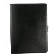 Emartbuy Toshiba Encore 2 10.1 Inch Tablet Black Distressed Premium PU Leather Multi Angle Executive Folio Wallet Case Cover With Card Slots + Stylus