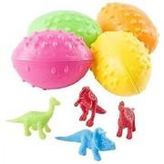 2 Dz Dinosaurs Eggs with Mini toy Dinosaur figures Inside - 24 Per Order