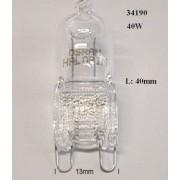 40W halogén hőálló sütő/tűzhely lámpa G9