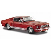 1967 Ford Mustang Gt 500, Red Maisto 31260 1/24 Scale Diecast Model Car