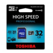 Toshiba SD-C032UHS1 (BL5A) Carte mémoire SDHC Classe 10 32 Go