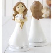 Figura pastel niña Comunión Paloma