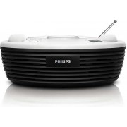 Micro Sistem Philips AZ202/12, CD Player (Negru)