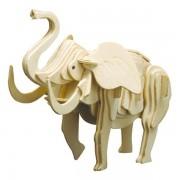 Puzzle eco 3D din lemn Elefant Pebaro
