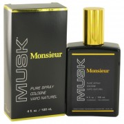 Dana Monsieur Musk Cologne Spray 4 oz / 118 mL Fragrances 418686