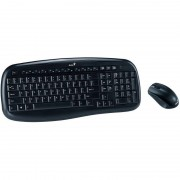 Kit tastatura si mouse Genius Wireless KB-8000X Black