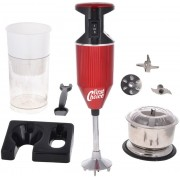 FirstChoice Combo Pack of Chopper SM-2 Plus 200 W Hand Blender(Red)