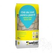 Chit rosturi piatra naturala - Weber Color Stone 20 KG - Gri