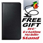 Lava A67 Flip Cover Case With Free Mobile Stand By Vinnx - Black