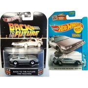 Back to the Future Car Set Retro Entertainment Time Machine Hot Wheels Mainline Series Hover Mode Delorean 2015 by Hot Wheels
