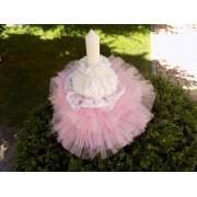 Lumânare Botez Pink Fiesta