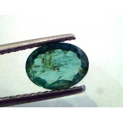 1.60 Ct Unheated Untreated Natural Zambian Emerald Panna
