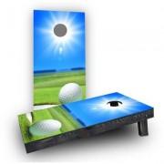 "Custom Cornhole Boards Sunny Golf Cornhole Game CCB190 Size: 48"""" H x 24"""" W, Bag Fill: All Weather Plastic Resin"