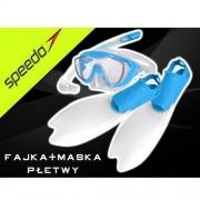 SPEEDO Zestaw dla dzieci Speedo maska+fajka+płetwy