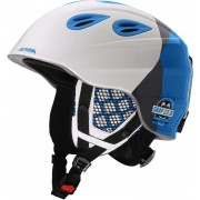 Alpina Grap 2.0 Helmet Juniors white-silver-blue Ski- & Snowboardhelme