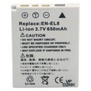 Power3000 PL189G.343 - acumulator tip EN-EL8 pentru Nikon, 650mAh