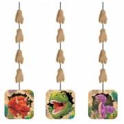 Dinosaurus hang versiering 3 stuks