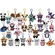Stuffed Animals Beanie Boos Bundle Set of Assorted 12 Clips Keychains Plush Toys Party Favors with 12 Animal Puzzle Erasers and 12 Gift Bags