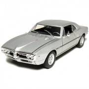 Welly 1967 Pontiac Firebird Hard Top 1/24 Scale Diecast Model Car Silver