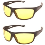 Pack of 2 Stylish Night vision yellow glasses