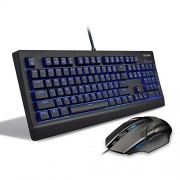 Tecknet X886 Arctrix Illuminated Mechanical Gaming Keyboard/Mouse Combo, 3 Backlight Settings, 21 Level Adjustable Luminance, Varied Light Effects, Game Lock Key, Upto 2000 DPI Mouse (Black)