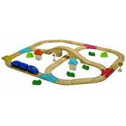 Plan Toys City Road and Rail Railway Set