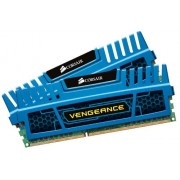 Corsair CMZ8GX3M2A1600C9B Vengeance Memoria per Desktop a Elevate Prestazioni da 8 GB (2x4 GB), DDR3, 1600 MHz, CL9, con Supporto XMP, Blu