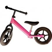 Bicicleta fara pedale roz pentru copii